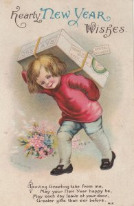 CLAPSADDLE ; Hearty NEW YEAR wishes, Boy , 1910