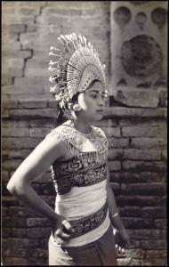 indonesia, BALI, Native Girl Djanger Dancer 1930s RPPC