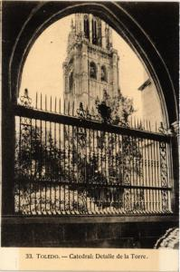 CPA Toledo Catedral: Detalle de la Torre SPAIN (743819)