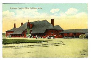 New Bedford MA  Railroad Station Train Depot Postcard