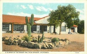 Desert Inn Palm Springs California 1920s Postcard Willard Teich 4779