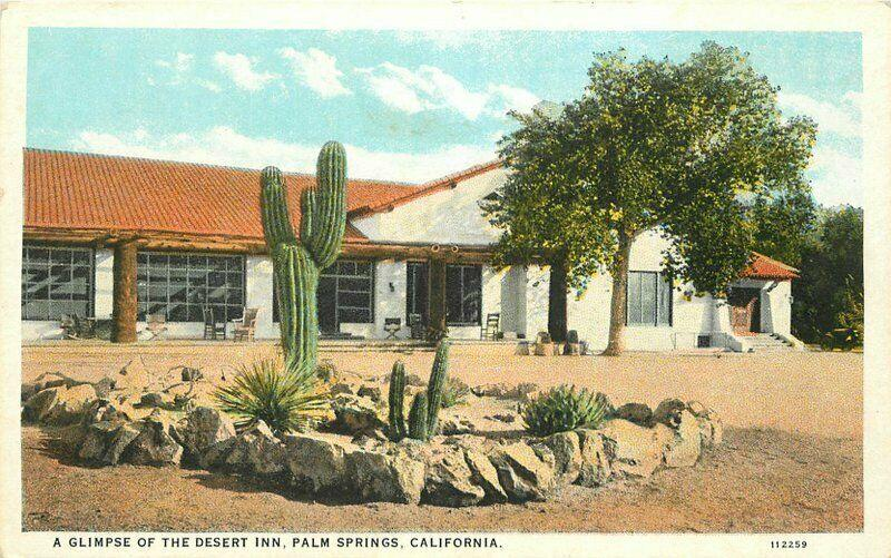 Desert Inn Palm Springs California 1920s Postcard Willard Teich 4779