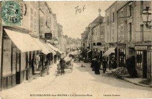 CPA BOURBONNE-les-BAINS Grande Rue (864646)
