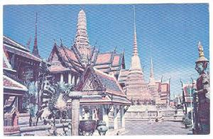 The Temple of the Emerald Buddha in Bangkok, Thailand,   1952