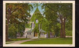Virginia Postcard Chapel Univ of VA Charlottesville