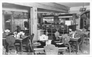 Middlesboro Kentucky~Cumberland Mountain Hotel & Cottages-Dining Room/Bar~RPPC