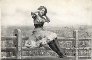 Woman Risque 'How'd You Like To Spoon With Me' J. Murray Jordan Postcard F36