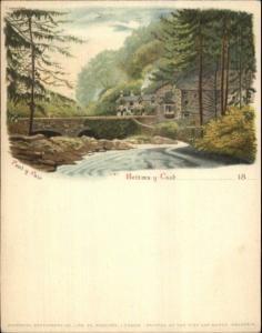 Bettws-Y-Coed Wales 1890s Smaller Format Postcard