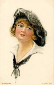 Lady in Sailor's Top.     Artist: Alice Luella Fidler