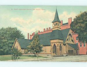 Unused Divided-Back CHURCH SCENE New Britain Connecticut CT G3847
