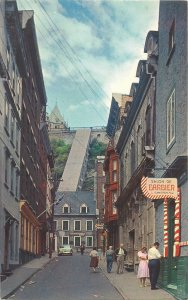 Canada Postcard Quebec PQ historic old city typical street