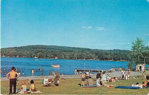 View at State Park Beach Lake Hopatcong New Jersey Chrome