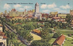 Florida Miami Lummus Park And Downtown Miami