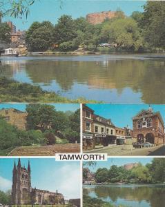 Tamworth Fine Fare Supermarket Tailors & River Staffs 2x 1970s Postcard