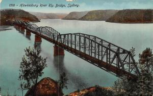 Australia, Sydney, Hawkesbury River Railway Bridge Nature Series