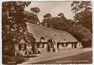 Hampshire; Cat & Fiddle Inn, New Forest RP PPC By Sunray, c 1960's, Unused