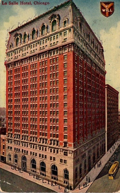 Illinois Chicago La Salle Hotel 1912