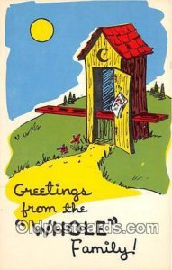 Greetings from the Whole Family Outhouse Unused