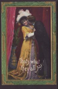 That's What They All Say,Man Kissing Woman Postcard