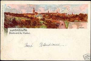 luxemburg, LUXEMBOURG, Boulevard du Viaduc (1901) Stamp