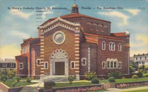 St Mary's Catholic Church St Petersburg Florida 1961