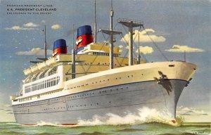 SS President Cleveland American President Line Ship 1959