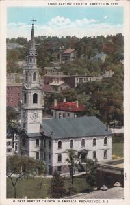 PROVIDENCE , RI ,10s-20s; First Baptist Church, Oldest Baptist Church in U.S.A.