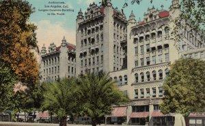 LOS ANGELES, California, 1900-10s; Auditorium, Largest Concrete Building in t...