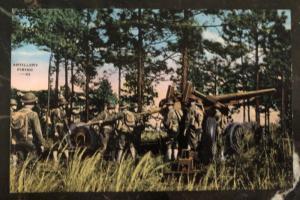 Mint USA Army Picture Postcard PPC Artillery Firing