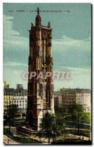 Old Postcard Paris La Tour Saint Jacques