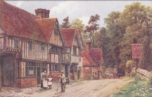 AS, Partial Street Scene (Dirt), Chiddingstone, KENT (England), UK, 1900-1910s