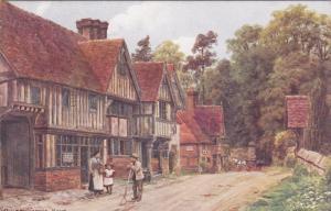 AS, Partial Street Scene (Dirt), Chiddingstone, KENT (England), UK, 1900-1910s