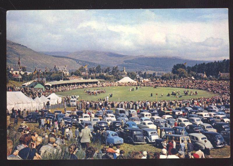 ABERDEENSHIRE ENGLAND UK 1940's CARS THE ROYAL BRAEMAR GATHERING POSTCARD