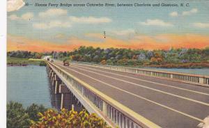 Sloans Ferry Bridge across Catawba River,  between Charlotte and Gastonia,  N...