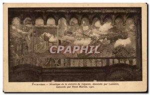 Old Postcard Fourviere Mosaic Victory of Lepanto comic by Lameire executed by...