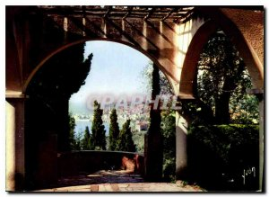 Postcard Modern Colors and Light of France Domaine Les Colombieres Menton M F...