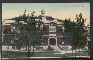Canada Postcard - Collegiate Institute, Brandon, Manitoba  T5207
