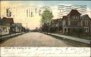 Grafton WV McGraw Ave c1910 Postcard #2