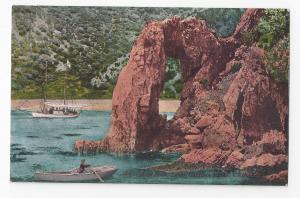 Santa Catalina Island California Arch Rock Vintage Edw H. Mitchell Postcard