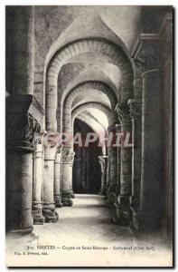 Saintes Postcard Old Crypt of St. Eutrope Collateral (south side)