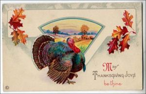 Greeting - Thanksgiving, Scene & Turkey