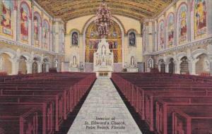 Florida Palm Beach St Edward's Church Interior Curteich