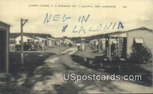 Oliver's Cabins Laconia NH Writing on back
