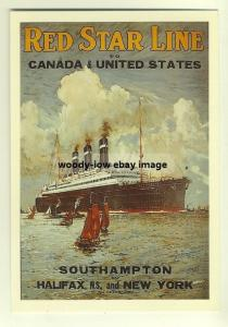 ad2223 - Red Star Line  , Belgenland - modern poster advert postcard