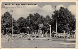 E80/ Weirton West Virginia Postcard c40s Margaret Manson Weir Pool 18