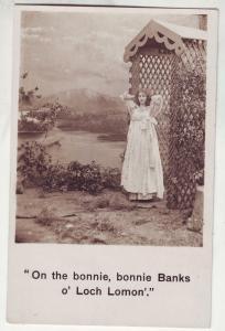 P617 JLs old card pretty lady on the bonnie bonnie banks of loch loman