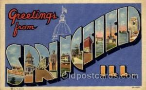 Springfield, Illinois Large Letter Town Towns Post Cards Postcards  Springfie...