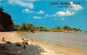 E23/ Kelleys Island Ohio Postcard Put-In-Bay Chrome Public Bathing Beach