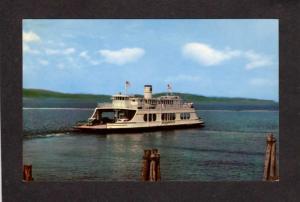 NY MV Adirondack Ferry Boat Burlington VT Port Kent New York Postcard Vermont