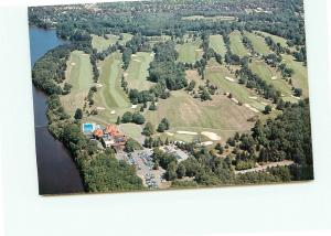 Postcard Aerial New Haven Country Club Lake Whitney Hamden Connecticut   # 3825A